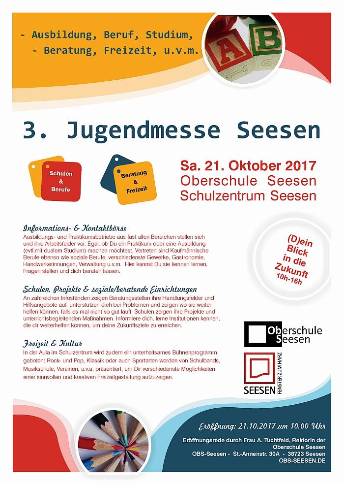3. Jugendmesse 2017 am 21.10.2017 in der Oberschule Seesen (10 - 16 Uhr)